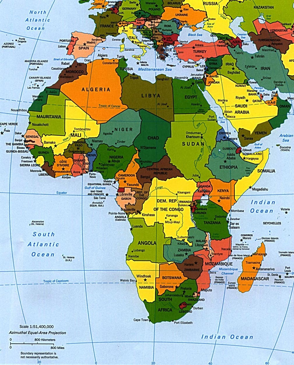 Africa Map 2008